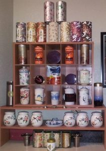 A portion of my tea collection that is on display.